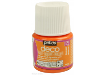 Peinture Brillante Pébéo 45 ml Orange