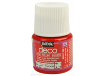 Peinture Brillante Pébéo 45 ml Rouge brillant