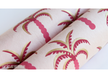 Papier indien Palm rose et or