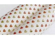 Papier italien Hearts rouge et or