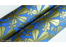 Papier italien Liberty Leaves bleu et or