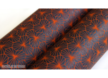Papier indien Alienor indigo et orange